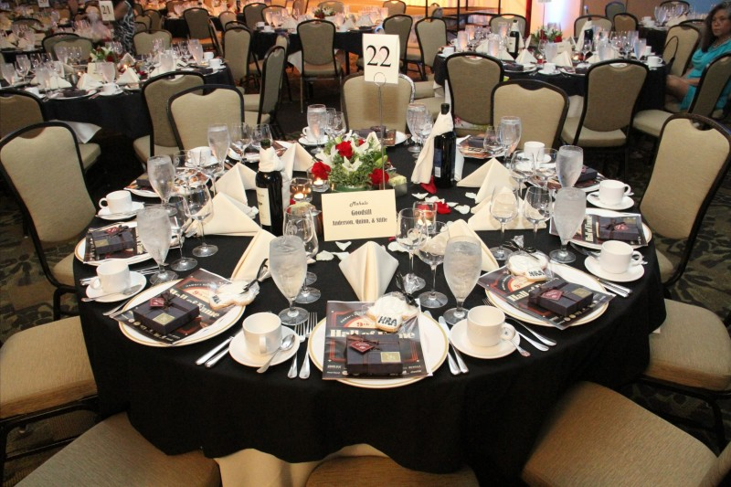 Related & 2015 HOF VIP table setting - Hawaii Restaurant Association