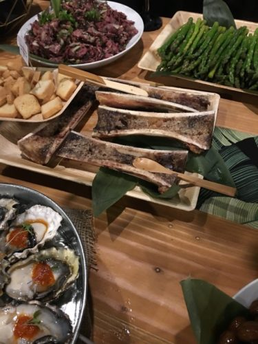 Bone marrow and oysters….just a sampling of the unique offerings.