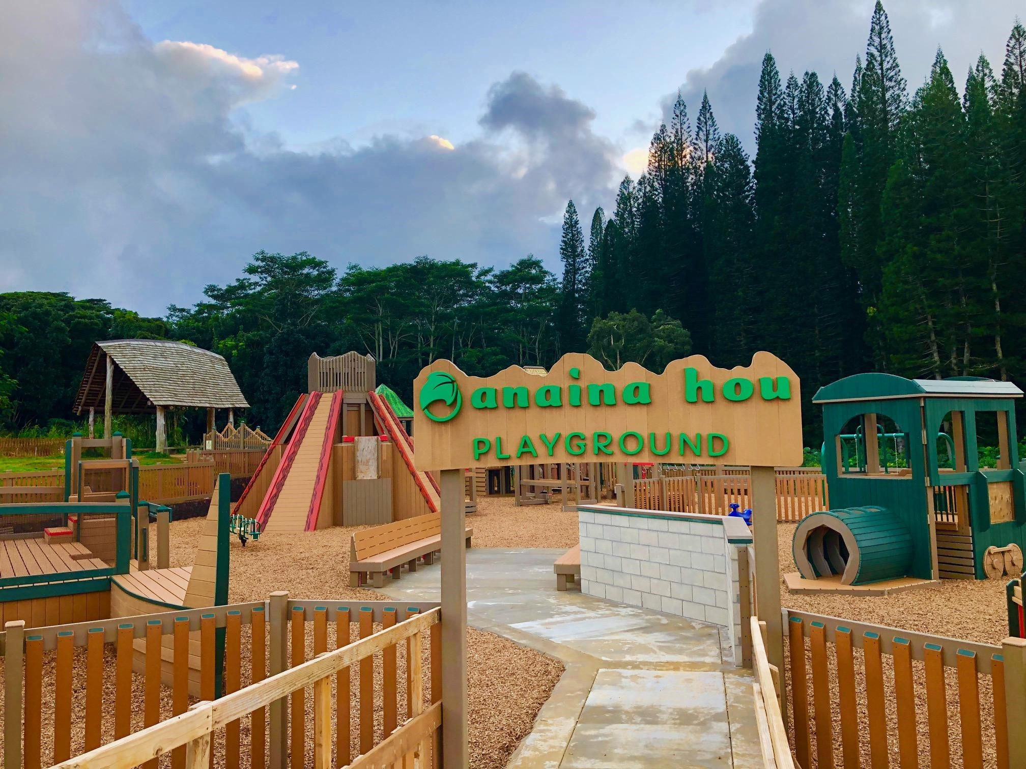 The new playground recycled plastic built