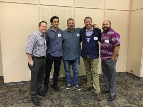HRA Board Members Tyler Roukema, Michael Skedeleski, Andrew Spinnelli, Michael Miller , and Keli`i Gouveia were all on hand to learn at the Symposium